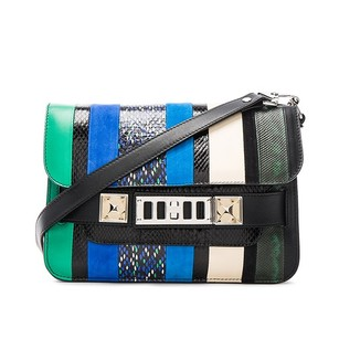 Proenza Schouler Snakeskin Suede Ps1 Shoulder Bag