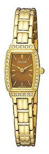 Pulsar Pulsar Womens Pege60 Crystal Tiger Eye Dial Watch List Box