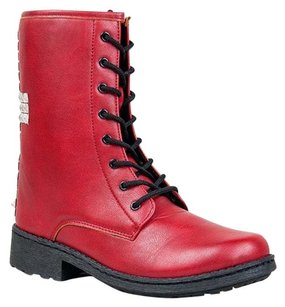 Qupid Red Boots