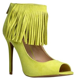 Qupid Yellow Pumps