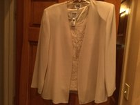 R & M Richards Sandy Beige Mother Of Bride Or Groom ( R & M By Karen Kwong Dress