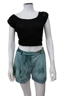 Rachel Roy Silk Shorts Teal