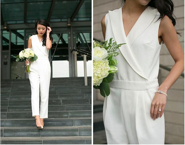 Rachel Zoe Soft White Raydar Jumpsuit Modern Wedding Dress Size 0 (XS) ...