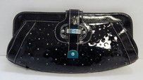 Rafe York Patent Leather Black Clutch
