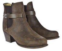 Rag & Bone Amp Womens Ankle 355 Distressed Leather Heels Brown Boots