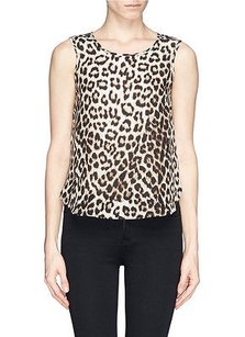 Rag & Bone Fleet Leopard Animal Top Beige