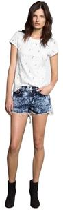 Rag & Bone Acid Washed Jean Cut Off Shorts Blue