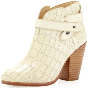 Rag & Bone Harrow Strappy Ankle White Boots