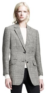 Rag & Bone New Cotton Houndstooth Silk Gray, Black, White Blazer