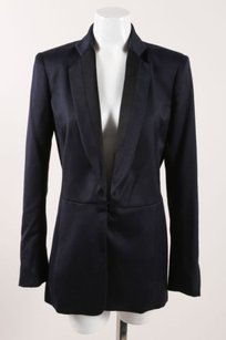 Rag & Bone Rag Bone Navy Black Wool Fitted Long Sleeve Victoria Blazer