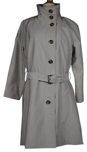 Rainforest Womens Solid Long Sleeve Polyester Blend Trench Trench Coat