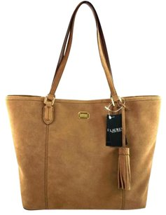 Ralph Lauren Leather Anaville Tote in Brown