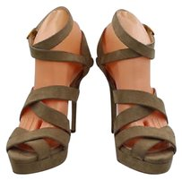 Ralph Lauren Collection Label Womens Taupe Pumps Brown Platforms