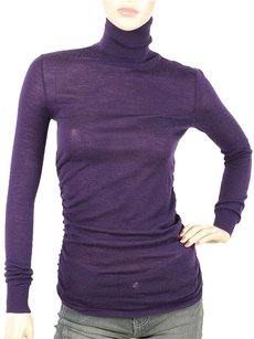Ralph Lauren Turtleneck Cashmere Ruched Sweater