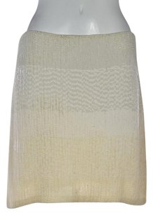 Ralph Lauren Blue Label Womens Ombre A Line Silk Above Knee Skirt Ivory