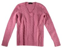 Ralph Lauren Cable Knit Pink Rbk Sweater