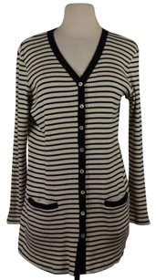 Ralph Lauren Lauren Womens Striped Cardigan Cotton Sweater