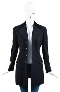 Ralph Lauren Collection Ralph Lauren Collection Black Wool Velvet Collar Button Blazer Jacket
