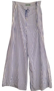 Ralph Lauren Collection Wide Leg Pants Blue and white