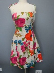 Ralph Lauren short dress pink/cream/blue/ orange Pink Cream Blue on Tradesy