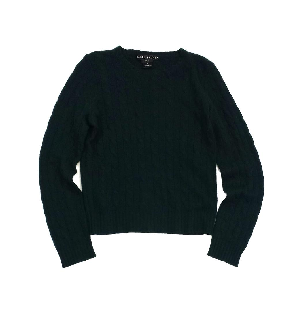 Added to Shopping Bag. Ralph Lauren Cable Knit Cashmere Sweater