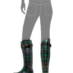 Ralph Lauren green plaid Boots
