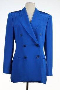Ralph Lauren Ralph Lauren Collection Purple Label Womens Blue Blazer Silk Jacket