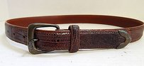Ralph Lauren Ralph Lauren Usa 1985 Genuine Lizard Belt Sterling .925 Silver Buckle