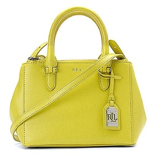 Ralph Lauren Newbury Mini Satchel in Yellow