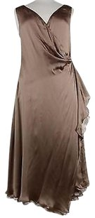 Ralph Lauren Black Label Womens Metallic 100 Silk Dress