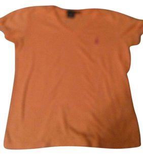 Ralph Lauren T Shirt Orange with Pink Polo