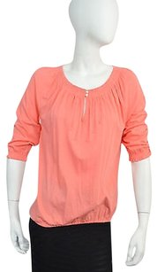 Ralph Lauren Womens Coral 34 Sleeve Ruched Size Ps Top Pink