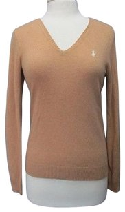 Ralph Lauren Sport Wool Long Sleeves Solid V Neck Sma11679 Sweater