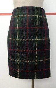 Ralph Lauren Talbots Wool Tartan Plaid Skirt Multi-Color