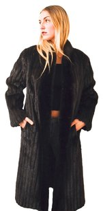 Ranch Mink Fur Corded Fur Coat