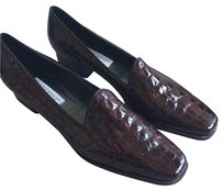 Rangoni European Italian Faux Alligator Brown Flats