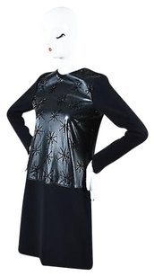 Raoul short dress Black Leather Star on Tradesy
