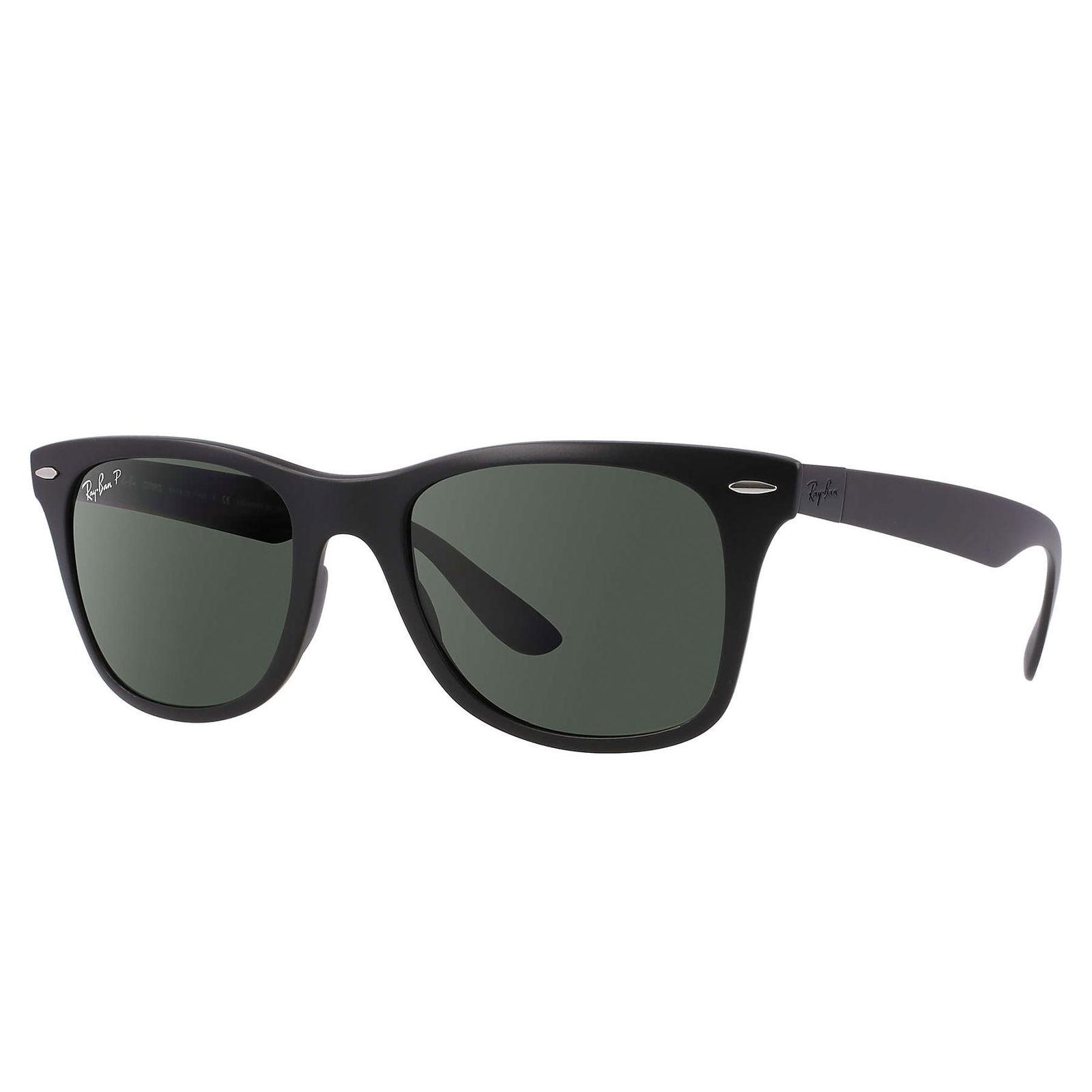 5e60c52e56 ... discount code for ray ban ray ban wayfarer litefoce polarized sunglasses  black green rb4195 78e09 e9456