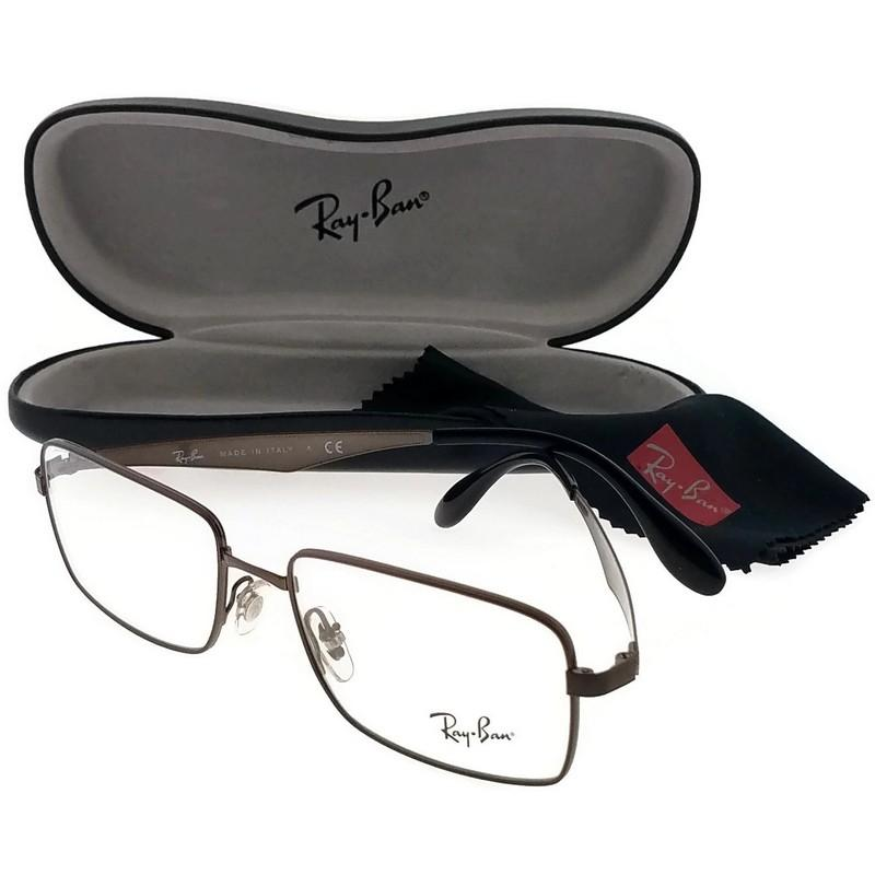 e72f462727694 ... greece ray ban rx6329 2593 53 highstreets mens brown frame clear lens  eyeglasses a9c5e fd0bb