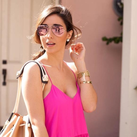 Ray Ban Gold Pink Mirror Lens Aviator W Rb 3025 112 4t Free 3