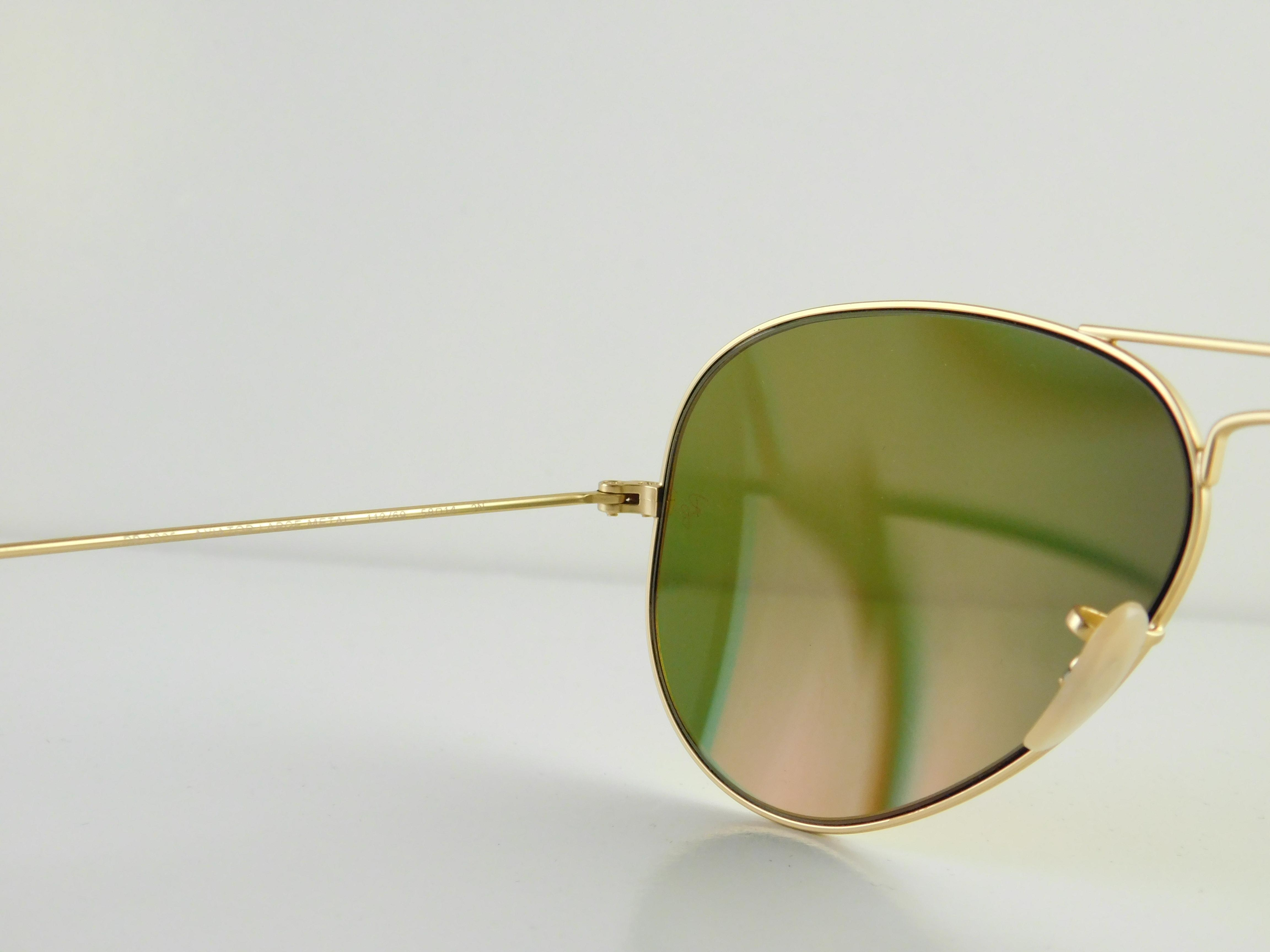 d93e7c9b92cdf ... ireland ray ban matte gold frame reflective red mirror lens gently used  3025 112 69 aviator