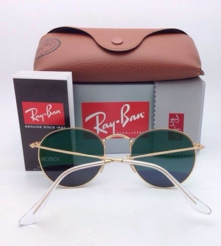 ray ban green glass golden frame  ray ban new ray ban polarized sunglasses round metal rb 3447 112/p9