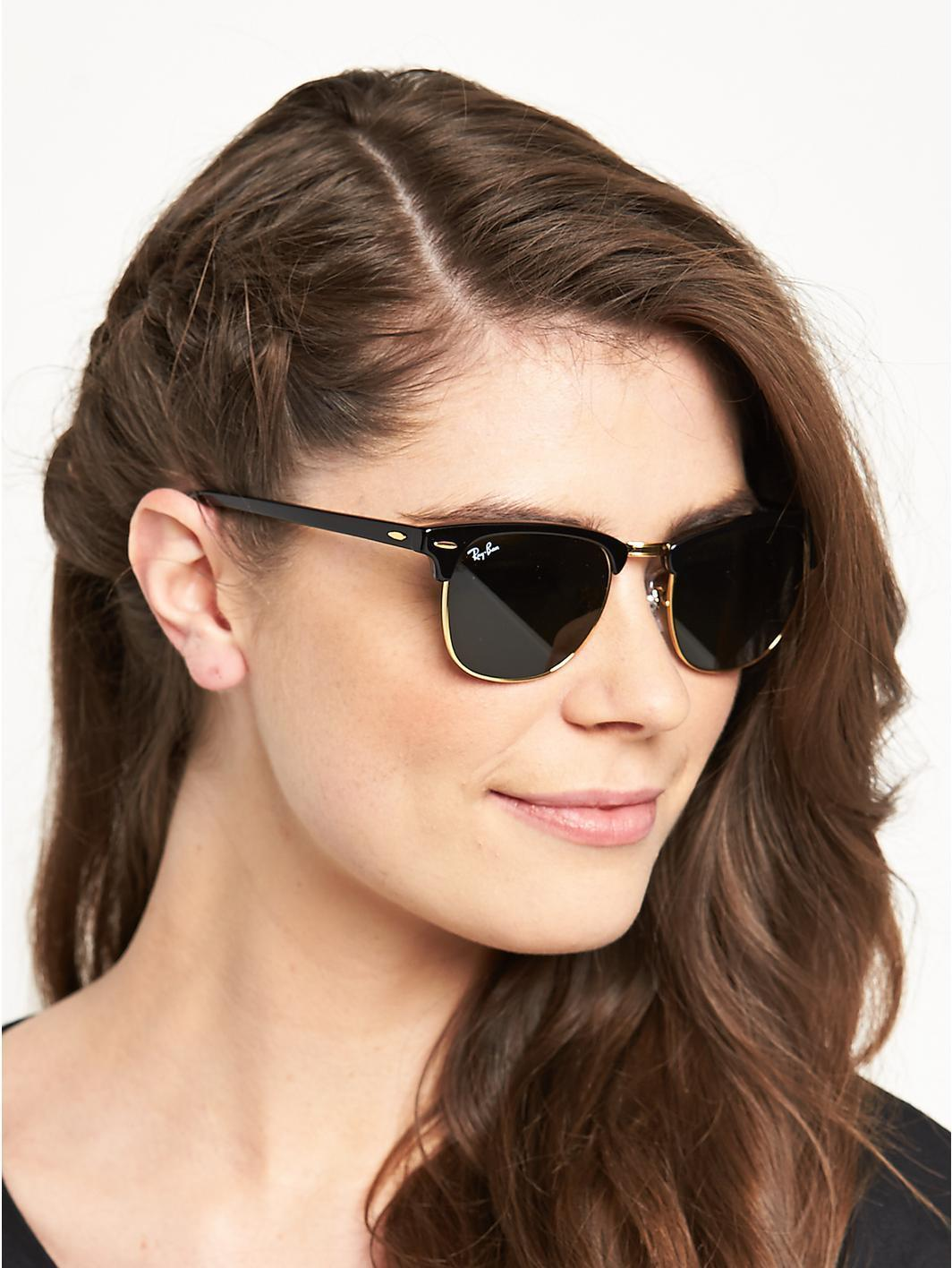 ray ban rb3016 classic clubmaster sunglasses mus2  Ray-Ban Ray-Ban Clubmaster Classic RB3016 W0365 Unisex Sunglasses