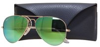 Ray-Ban Ray Ban RB 3025 112/P9 Gold w/Green Lens Aviator Men's Polarized SS1827-125 Sunglasses 58mm