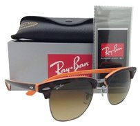 Ray-Ban Ray-Ban Sunglasses CLUBMASTER Tortoise & Orange w/Brown gradient