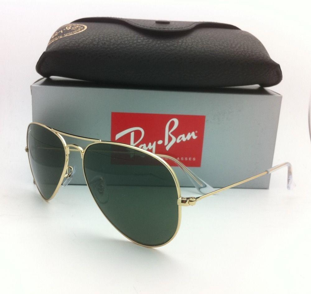 ray ban aviator rb3025 l0205  Ray-Ban Sunglasses RB 3025 L0205 58-14 LARGE METAL Gold Aviator w/G-15