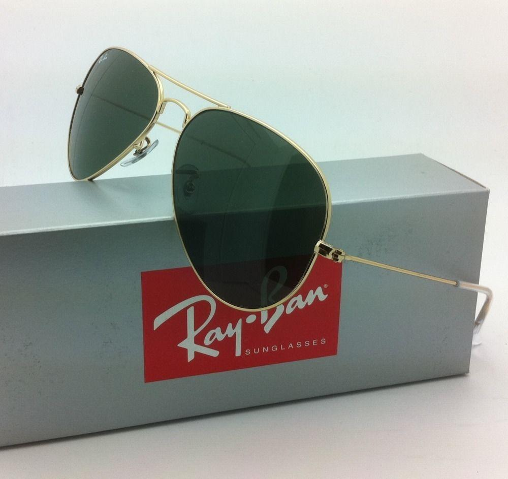 rb3025 aviator large metal l0205  Ray-Ban Sunglasses RB 3025 L0205 58-14 LARGE METAL Gold Aviator w/G-15