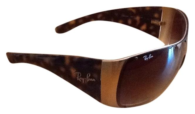 a6c054e8a50b6 ... official ray ban ray ban wrap around visor aviator sunglasses 750b0  3f816
