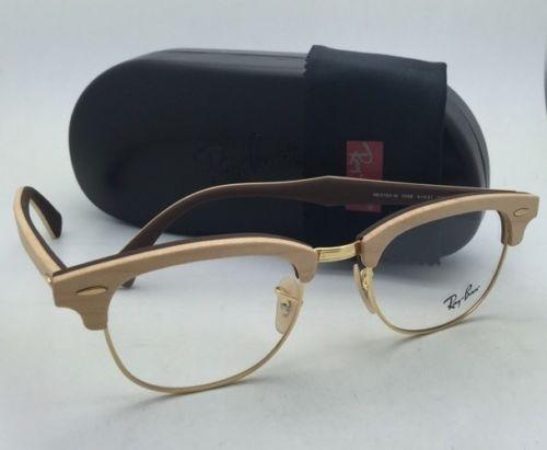 e79e92cf73f54 ... reduced ray ban rb 5154 m 5558 maple wood on brown frames new clubmaster  rx able ...