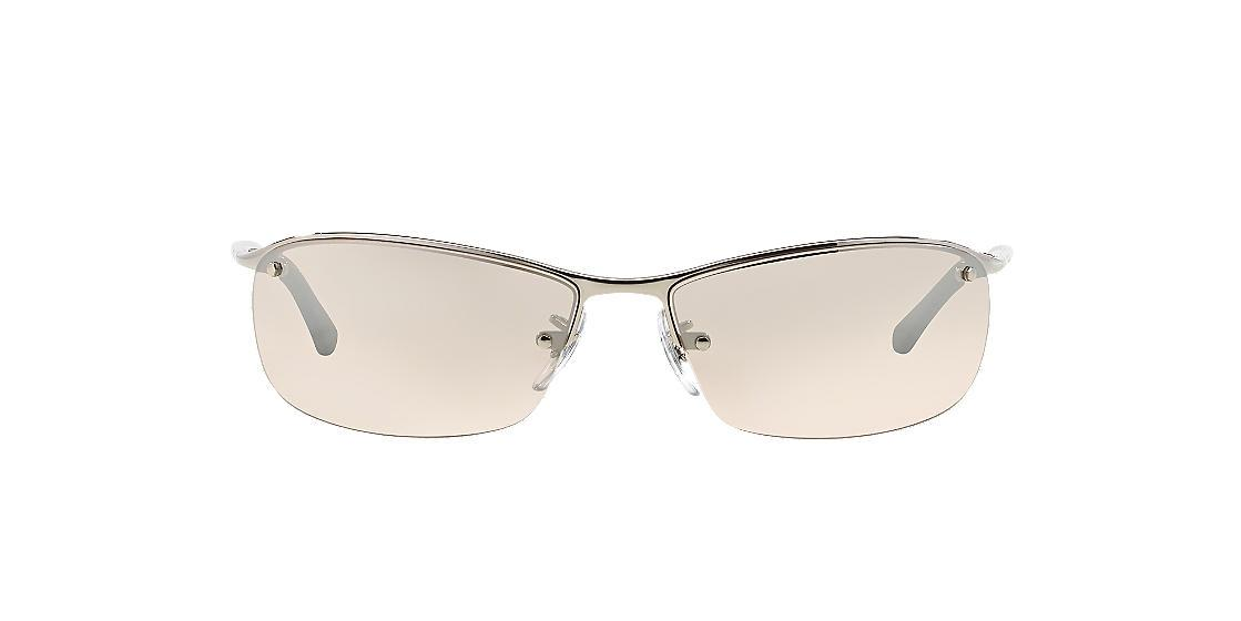 Ray Ban Silver Sidestreet Top Bar (Rb3183 63) Sunglasses
